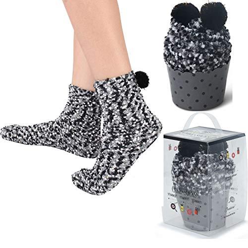 1af860af7596b 2 DIY Gift Boxes Valentine's Day Christmas Socks Cozy Super Soft Warm Fuzzy  Plush Crew Socks