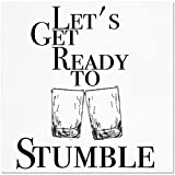 Funny Napkins - LET'S GET READY TO STUMBLE - Boutique Cocktail Napkin, 5''X5'', Pack Of 20 Napkins For Parties And Entertaining