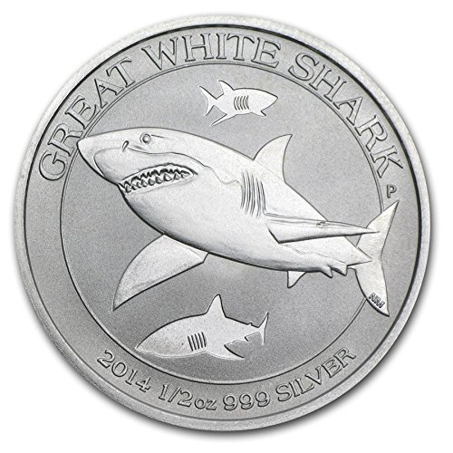15.55/Gr. Australie Great White Shark 2014/50/Cents 1//2/oz Argent 999/Silver Coin Monnaie