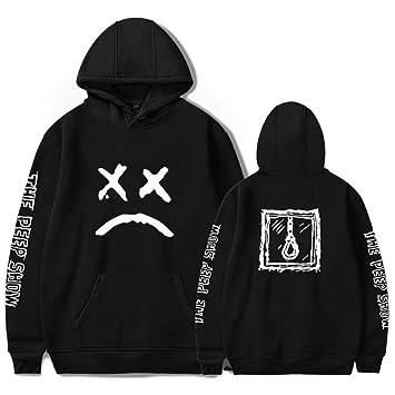 Lamdoo Women Men Couples Sweatshirt Sad Face Rapper Hoodies Casual Pullover Hip Hop Mew Black Friday Christmas-Black S: Amazon.es: Hogar