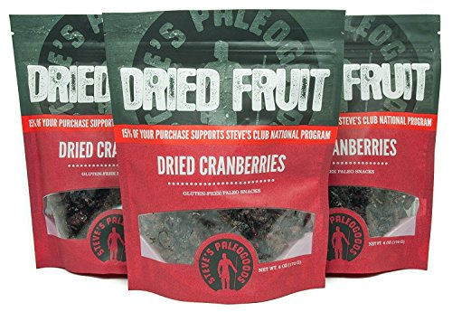 (Steve's PaleoGoods, Dried Fruit Cranberries, 6 oz (Pack of 3))