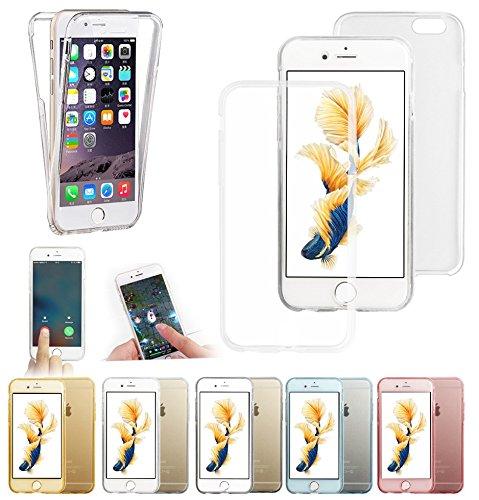Apple iPhone SE 2016 4G/LTE PROTEKTOR case TPU transparent 360 Tasche Hülle - Zubehör Etui cover Apple iPhone 5SE 2016 - XEPTIO accessoires