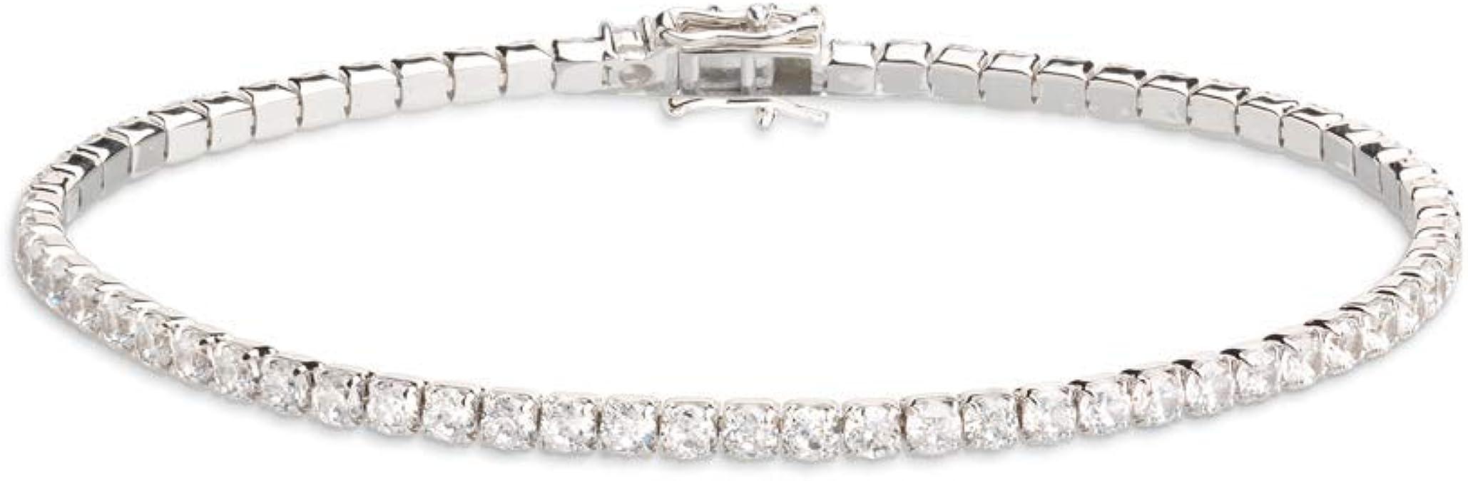 Xenox Damen Silber Sterling 925 Armband mit Zirkonia Glamour Match XS1725