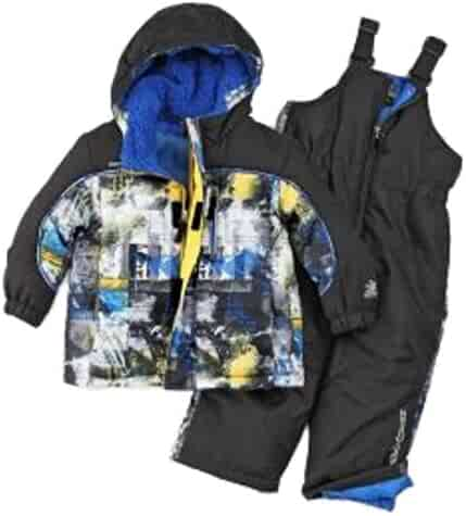 4b015414a ZeroXposur Infant Toddler Boys Blue Splatter Snow Bibs Coat Set Snowsuit