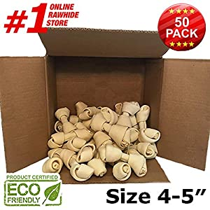 4-5 Inch Premium Dog Bones –Chewing Dog Treat Made with The Best Rawhide 100% Natural, No Additives, Chemicals or Hormones Natural Grass Fed in South America - USDA/FDA Approved 47
