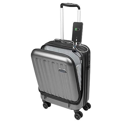 Maletas de Viaje de Cabina 55x40x20 con USB de Carga Equipaje de Mano Trolley rigida 4 Ruedas giratorias 360º candado TSA Maleta Ryanair, American ...
