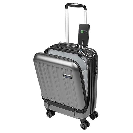 eac5db3908 Valigia Bagaglio a Mano Tasca porta PC Trolley Cabina Bagaglio Rigido e  Leggero 4 Ruote Doppie