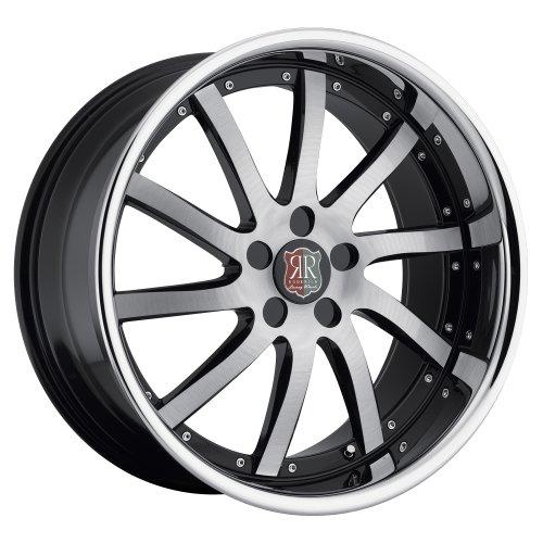 "20"" Roderick Rw4 Wheels 20x8.5 20x9.5 Black Brushed Face w/ Chrome Lip Infiniti Nissan 5x114.3"
