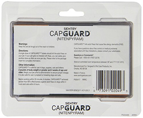 SENTRY-Capguard-nitenpyram-Oral-Flea-Tablets-2-25-lbs-6-Count