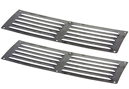 Hearth Products Controls HPC Louvered Stainless Steel Enclosure Vents (EV-14X4-5SS-2), 14x4-Inch, Set of 2 by Hearth Products Controls
