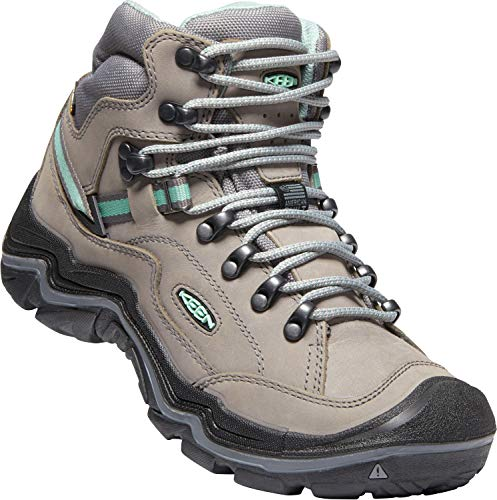 Stl Toe Boots - KEEN - Women's Durand II Mid WP, Waterproof Hiking Boots, Grey Flannel/Steel Grey, 8.5 M US