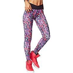 Zumba Women's Voltage Crossover Perfect Long Leggings, Gumball, X-Small