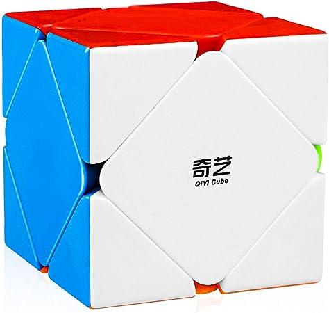 D ETERNAL Qiyi QiCheng Skewb Rubiks Rubix High Speed Stickerless Magic Puzzle Cube
