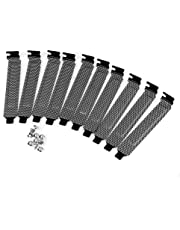 SIENOC 10 Pcs Hard Steel Dust Filter Blanking Plate PCI Slot Cover with Screws