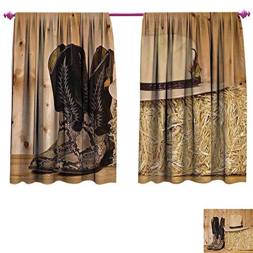 Western Window Curtain Drape Mystery Dark Skin Girl with Headdress Eye to Eye with Huge Snake Customized Curtains W63 x L63 Cream Brown -