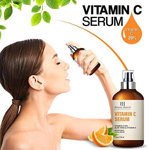51qgpQuBvQL - BOTANIC HEARTH Vitamin C Serum for Face - Skin Brightening Facial Serum with Aloe Vera & Vitamin E, Anti Aging, Advanced Skin Care - 1 fl oz