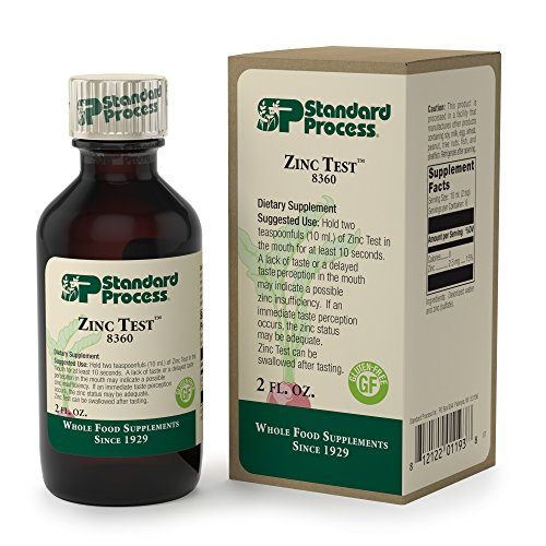 Standard Process - Zinc Test - Non-Invasive Oral Zinc Status Test, Gluten Free and Vegetarian - 2 fl oz. (60 ml.)