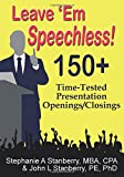 Leave 'Em Speechless!, Stephanie / A. Stanberry and John / L. Stanberry, 1596300876