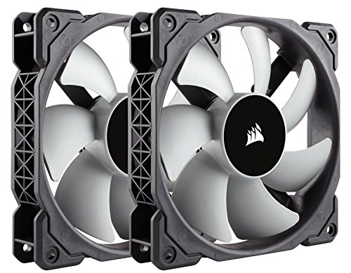 Corsair ML120, 120mm Premium Magnetic Levitation Fan (2-Pack) (Corsair Air Series Af120 Led Quiet Edition)