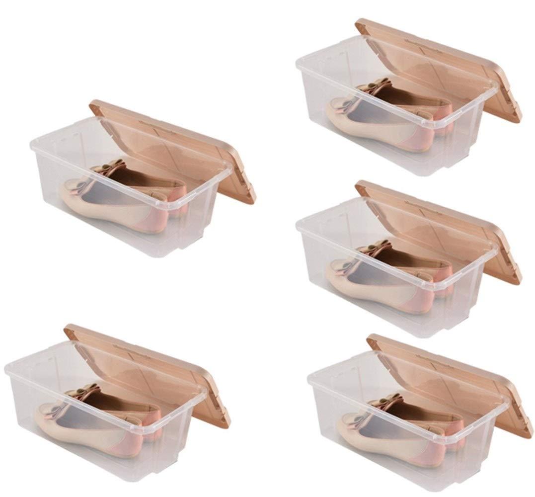 SCHUNlia 靴箱、大容量収納容器透明ボックス廊下ホール収納ボックスハイキングシューズ収納ボックスボックスセット 環境に優しくて丈夫 (Size : 35.2x20.4x12.3cm) B07TK7BLC1  35.2x20.4x12.3cm