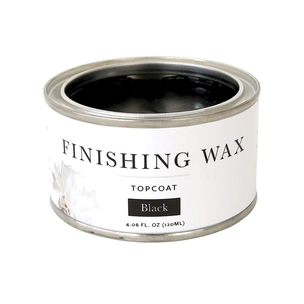 Jolie Finishing Wax - Protective Topcoat for Jolie Paint - Use on Interior Furniture, cabinets, Walls, Home Decor and Accessories - Odor-Free, Non-Hazardous - Black - 120 ml