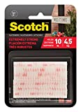 Office Products : Scotch(R) All-Weather Fasteners, 2 Sets of 1 Inch x 3 Inches, Strips, Clear (RFD7090)