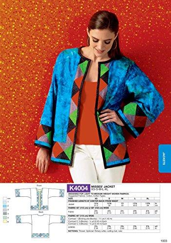 KWIK-SEW PATTERNS K4004OSZ Misses' Jacket Sewing Template