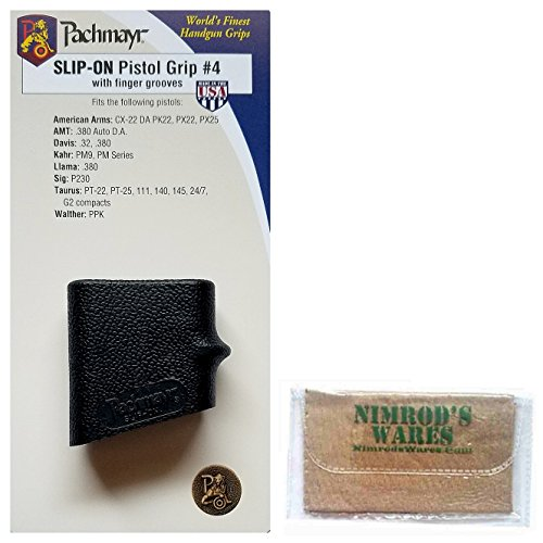 Pachmayr Slip-On Pistol Grip for Kahr PM9 and PM Series + Nimrod's Wares Microfiber Cloth