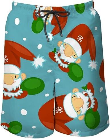 Pantaloni Da Spiaggia Da Uomo Carino Babbo Natale Senza Cuciture 2 Costumi Da Bagno Uomo Colore Beach Shorts Tra Cui 5 Taglie Amazon It Abbigliamento