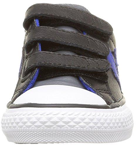 Converse Sp 3V Lea Ox - Zapatillas bajas infantil Negro (Noir/Bleu)