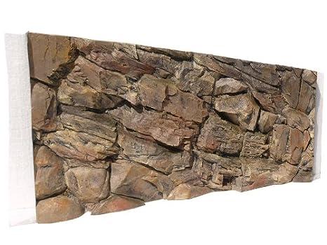 Acuario posterior 3d Rocas 120 x 50 en Robi Zoo: Amazon.es: Productos para mascotas