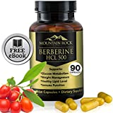 Cheap Mountain Rock Health Berberine-500mg Supplement – 90 Veggie Capsules – Helps Maintain Healthy Blood Sugar and Cholesterol Levels, Helps Lose Weight, Immune and Gastrointestinal System Support
