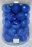 Set mit 47 blauen Weihnachtskugeln