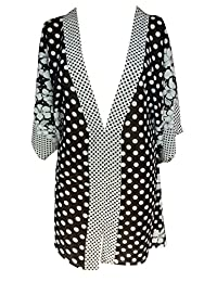 Sunrose Polka dot printed chiffon beach cover up