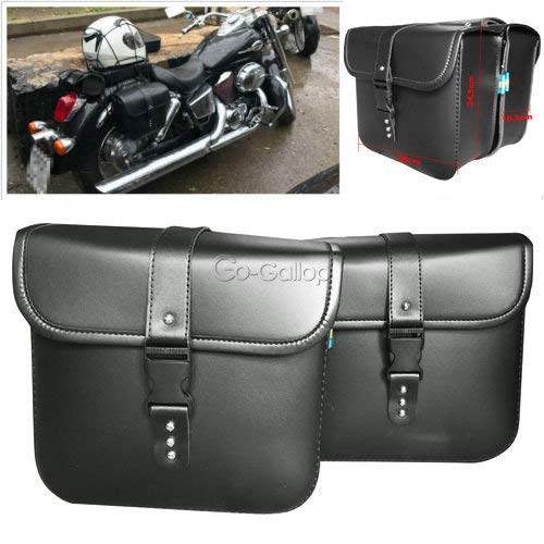 - REFIT Motorcycle PU Leather Saddlebags Tool Bag for Harley Davidson Dyna Sportster Touring XL 1200 883 Iron XL883N Street Bob