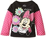 Disney Girls' Minnie Mouse Flower Long-Sleeve Skater T-Shirt