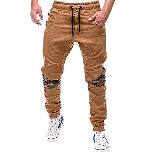 Spbamboo Mens Sweatpants Sport Joint Lashing Belts Casual Loose Drawstring Pants by Spbamboo