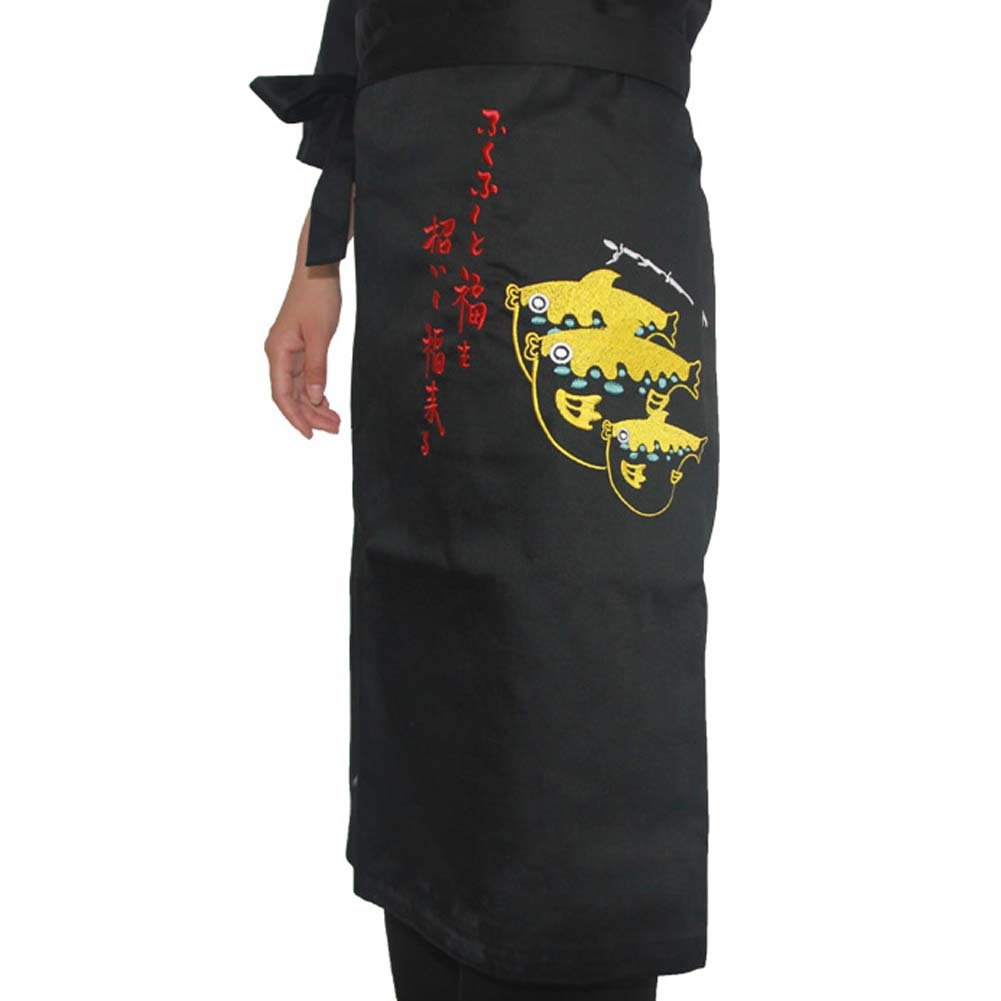 Korean Cuisine Japanese Sushi Aprons Chef Waist Apron Server Apron Restaurant Apron, 04 George Jimmy