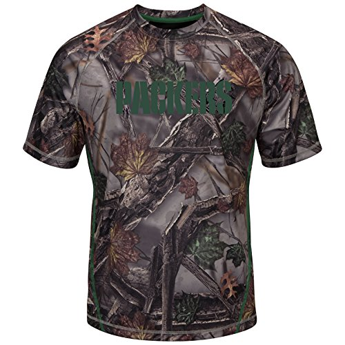 Majestic Green Bay Packers NFL The Woods Men's Camo Short Sleeve T-Shirt