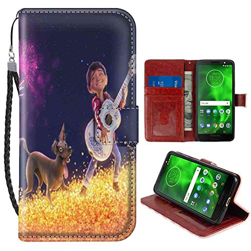 Coco Flap - Wallet Case Compatible with Moto G6 (5.7inch) Coco Dog Flap