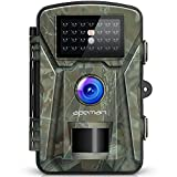 "【Upgraded】 APEMAN Trail Camera 12MP 1080P 2.4"" LCD Game&Hunting Camera with 940nm Upgrading IR LEDs Night Vision up to 65ft/20m IP66 Spray Water Protected Design (Green)"