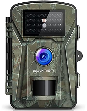apeman H45 - Cámara de Caza 12MP 1080P IP66, Impermeable 24 LED de IR Invisible
