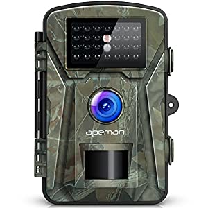 APEMAN 16MP 1080P Trail Wildlife Camera Trap with Infrared Night Vision up to 65ft/20m and IP66 Water proof