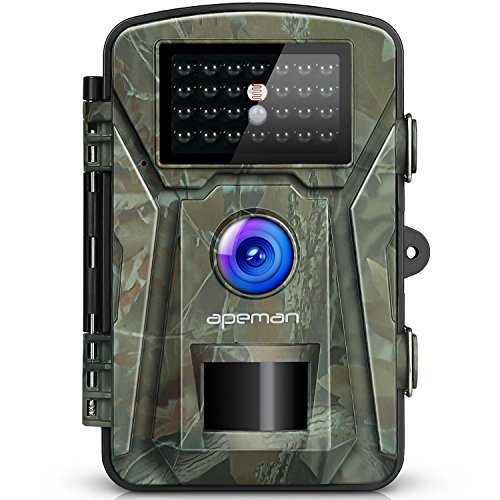 "APEMAN 【New Version】 Trail Camera 12MP 1080P 2.4"" LCD Game&Hunting Camera with 940nm Upgrading IR LEDs Night Vision up to 65ft/20m IP66 Spray Water Protected Design"