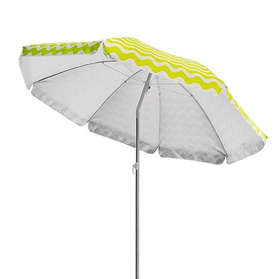 Sombrilla Parasol de Playa o Camping Verde de poli/éster de 180 cm Garden LOLAhome