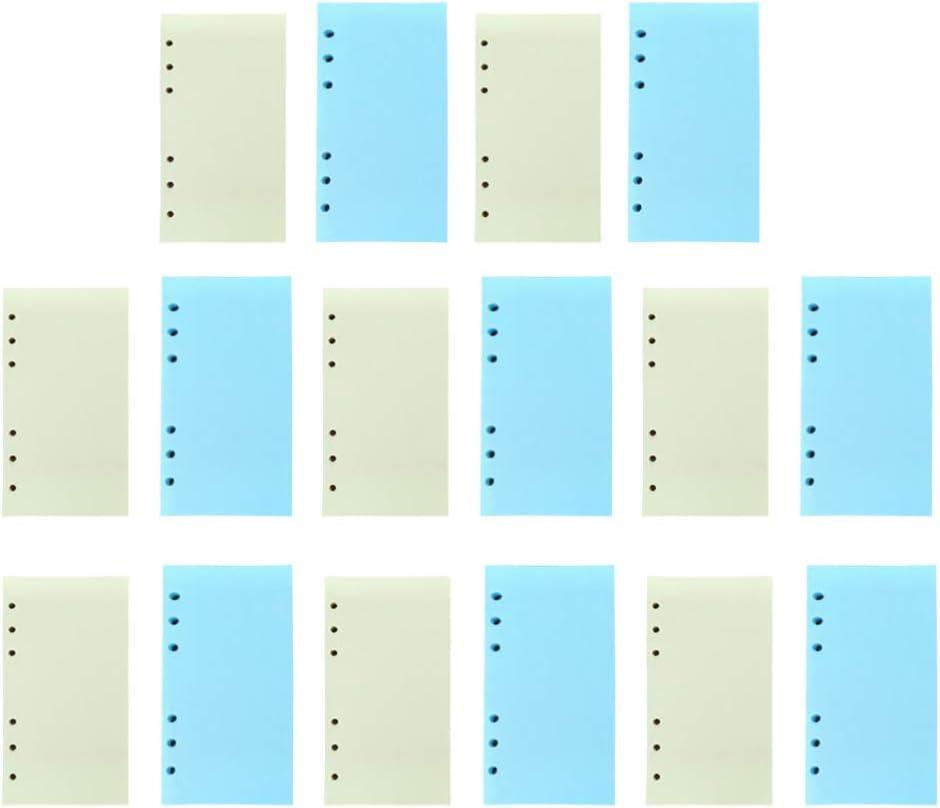 NUOBESTY papier de rechange remplisseur de planificateur de feuilles mobiles /à 6 trous papier de remplacement pour ordinateur portable a6 remplacement 80 feuilles format a6 jaune vert