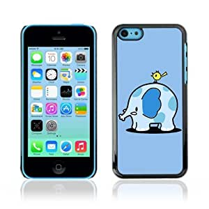 MMZ DIY PHONE CASEYOYOSHOP [Funny Cute Elephant & Bird] Apple iphone 6 plus 5.5 inch Case