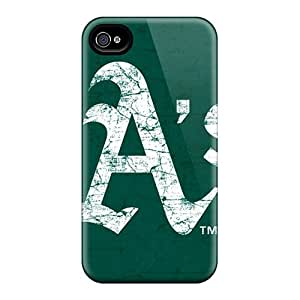 Iphone 4/4s RFv12166IwBc Support Personal Customs High-definition Oakland Athletics Series Perfect Cell-phone Hard Cover -PhilHolmes