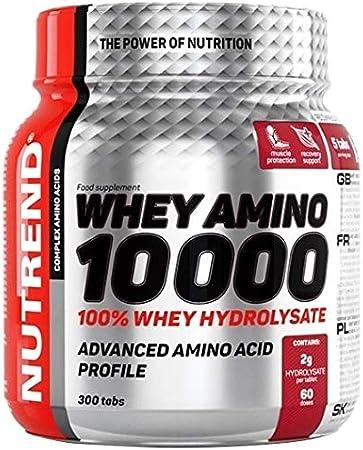 Nutrend WHEY AMINO 10 000 300 aquí 100% de proteína pura 2,000 mg de proteína hidrolizado intervalo óptimo de aminoácidos, contribuye al crecimiento ...