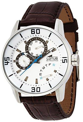 Lotus 15798/1 – Reloj analógico de cuarzo para hombre con correa de piel, color marrón